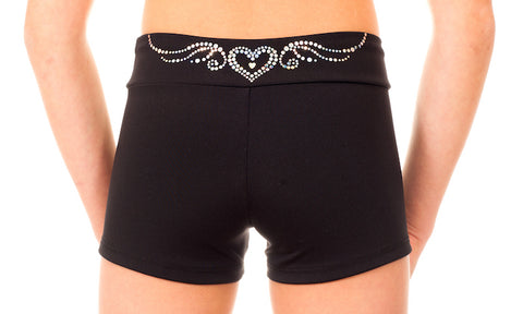 Gymstar Heart Applique Shorts