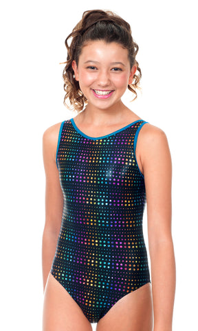Delaney Black Raindrops Leotard