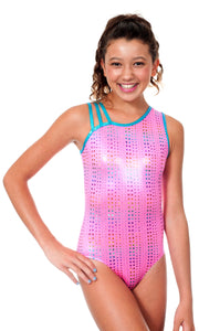 Mani Rainbow Metallic Dots Leotard