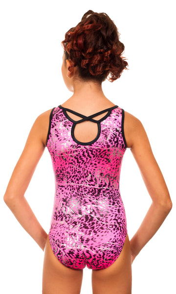 Simone Hot Pink Leopard Leotard