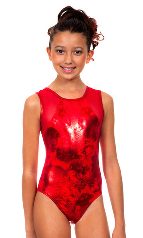 Raiya Red Shimmer Leotard