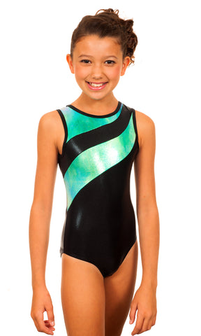Samantha Blue/Green Snowcone Leotard