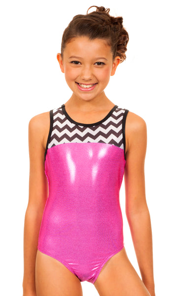 Jennifer Pink Chevron Leotard