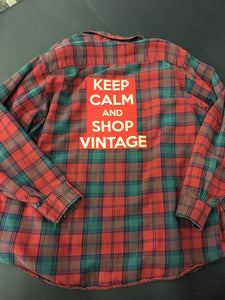 Graphic Shop Vintage Flannel Shirt Size Large