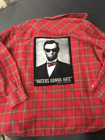 Graphic Abe Lincoln Flannel Shirt Size 3X