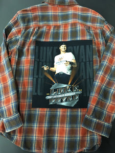 Graphic Luke Bryan Flannel Size 2X