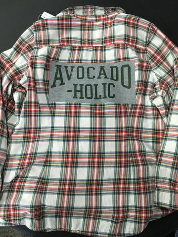 Graphic Avocado Flannel Size X Large