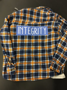Graphic Integrity Blue Flannel Size Medium