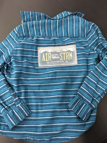 Graphic Airstream Blue Flannel Size Medium