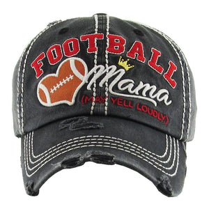 Football Mama Hat - Black