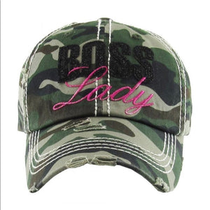 Boss Lady Hat - Camo