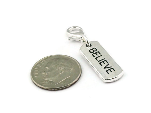 Believe Clip on Charm
