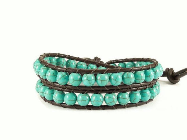 Elephant Leather Wrap Bracelet