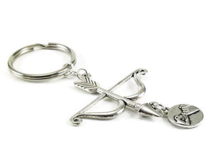 Pinkie Promise Bow and Arrow Key Chain