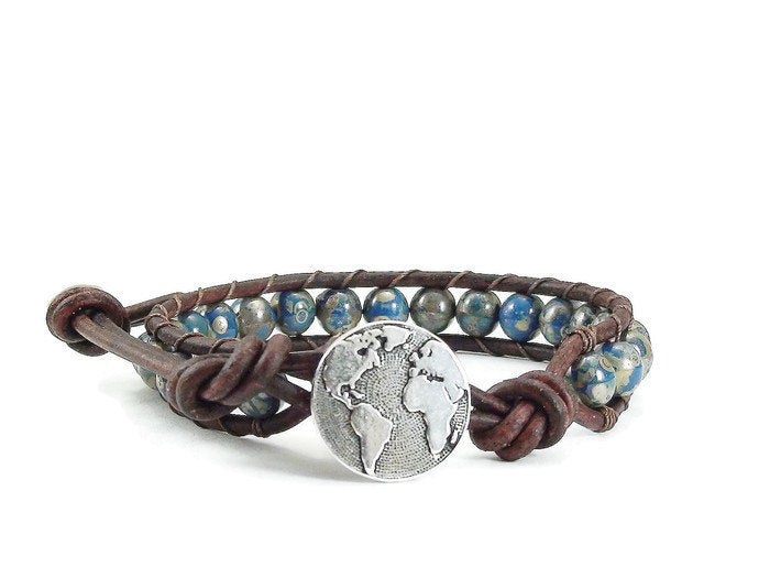 Earth Leather Bracelet