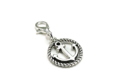 Anchor Clip on Charm