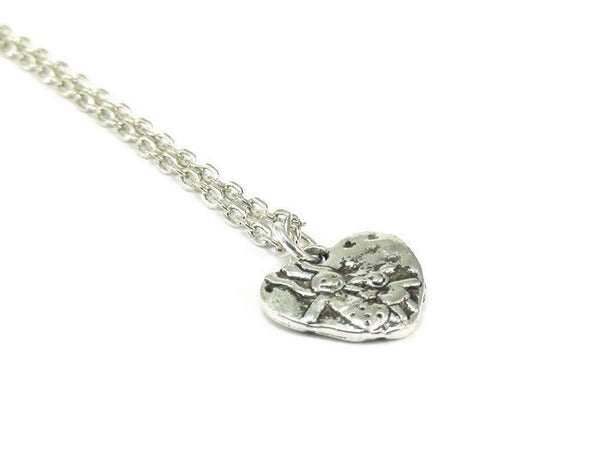 Mom and Daughter Heart Necklace