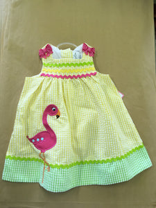 Yellow Flamingo Dress