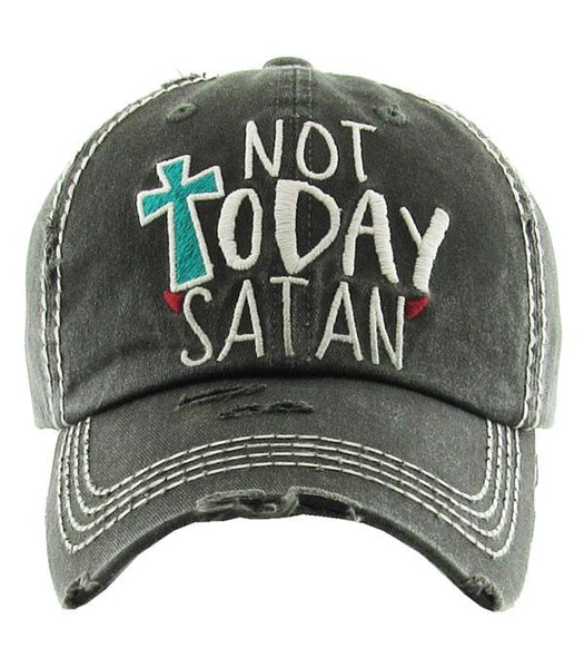 Not Today Satan Hat - Charcoal
