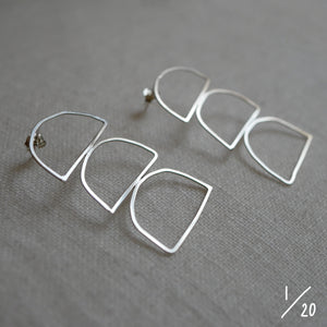 (1) 3 shapes earrings