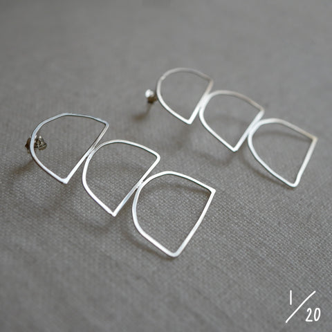 (1) 3 shapes earrings - By James Wilson