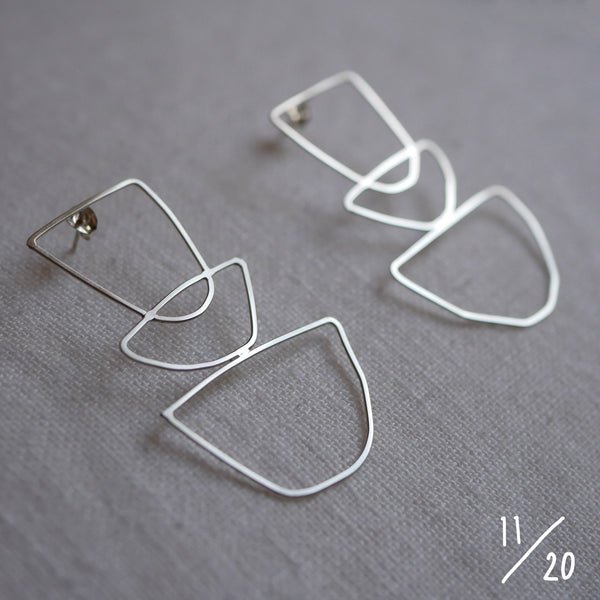 (11) 3 shapes earrings - By James Wilson
