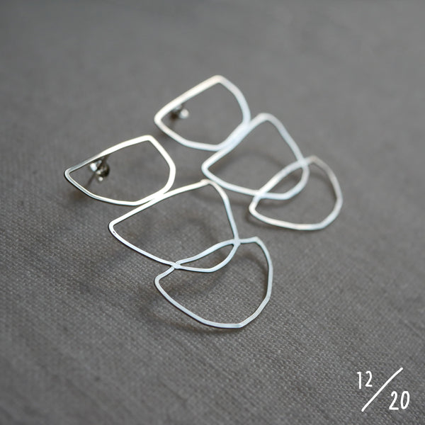(12) 3 shapes earrings - By James Wilson