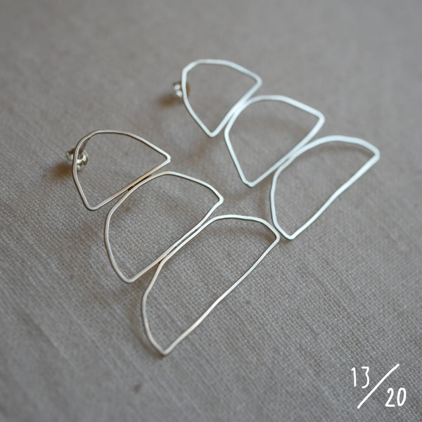 (13) 3 shapes earrings - By James Wilson