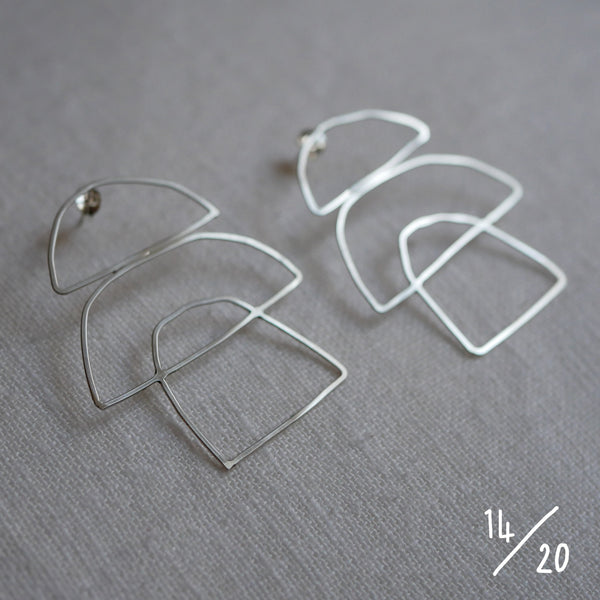 (14) 3 shapes earrings - By James Wilson