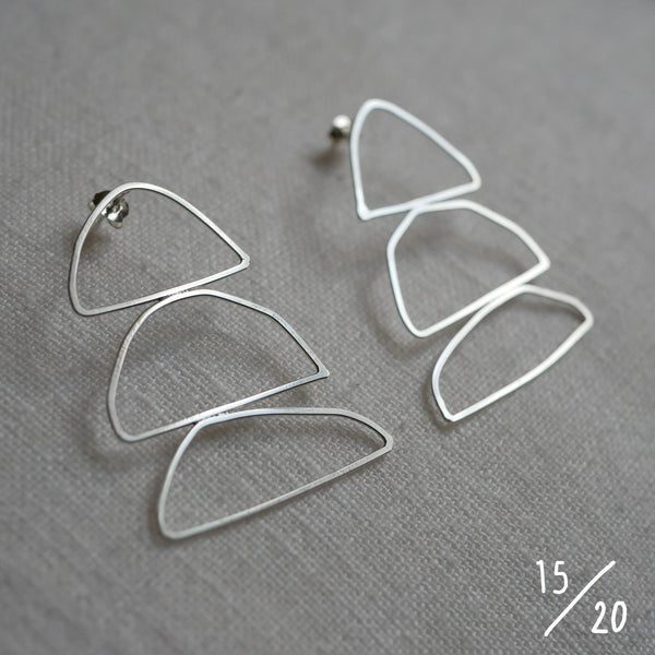 (15) 3 shapes earrings - By James Wilson