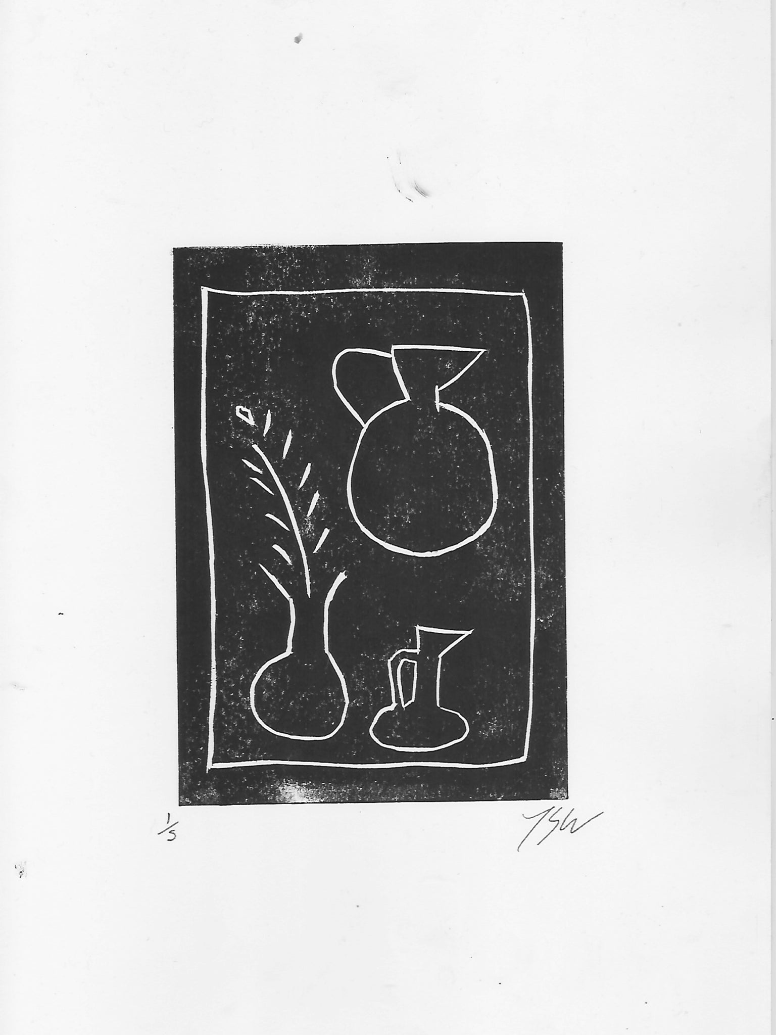 Vase, plant, and sun - By James Wilson