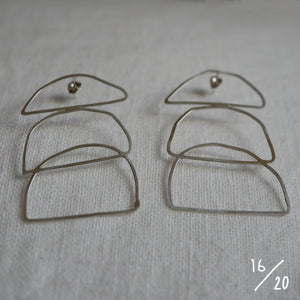 (16) 3 shapes earrings - By James Wilson