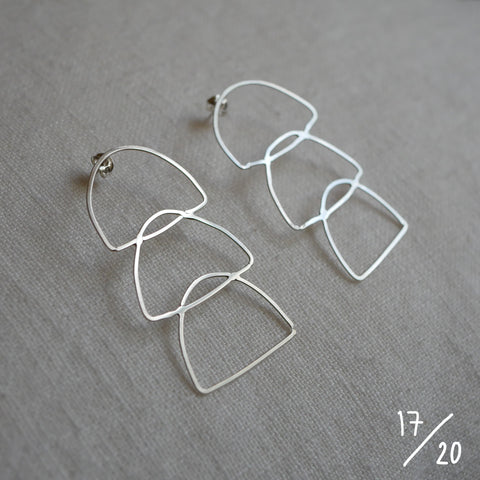 (17) 3 shapes earrings - By James Wilson