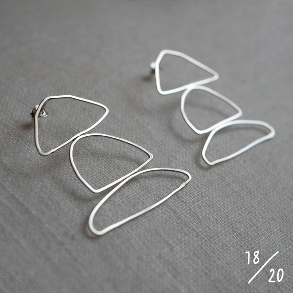 (18) 3 shapes earrings - By James Wilson