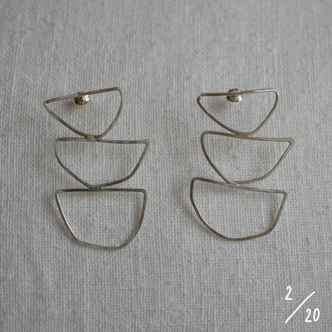 (2) 3 shapes earrings