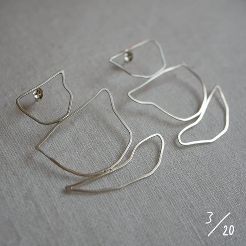 (3) 3 shapes earrings