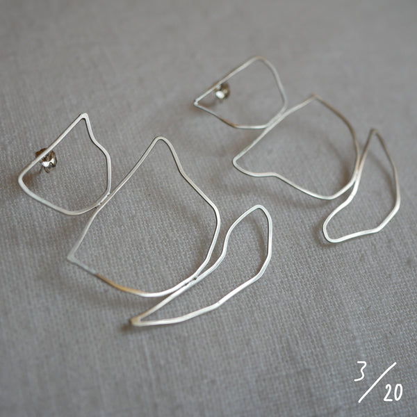 (3) 3 shapes earrings - By James Wilson
