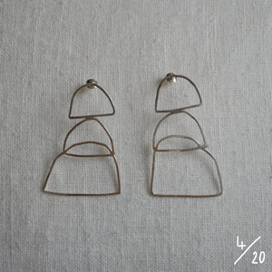 (4) 3 shapes earrings