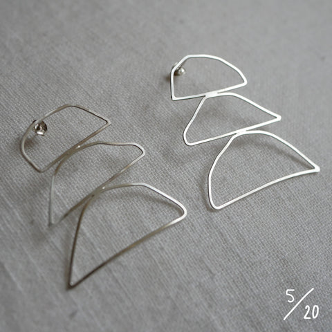 (5) 3 shapes earrings