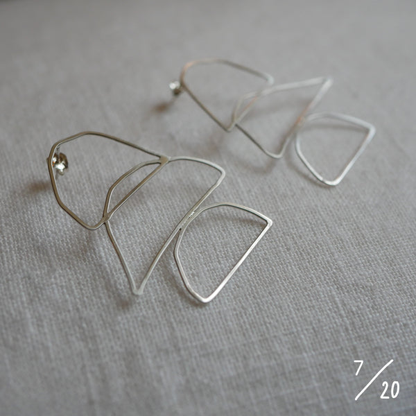 (7) 3 shapes earrings - By James Wilson