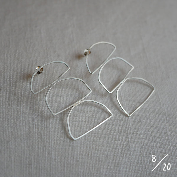 (8) 3 shapes earrings - By James Wilson