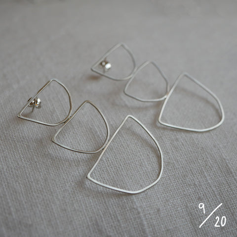 (9) 3 shapes earrings - By James Wilson