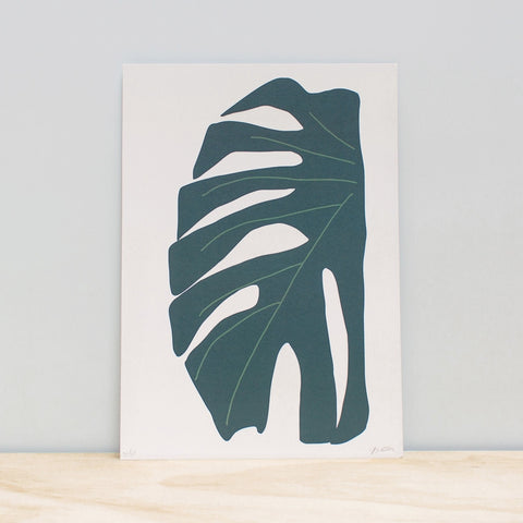 'Monstera Leaf' - Print - By James Wilson