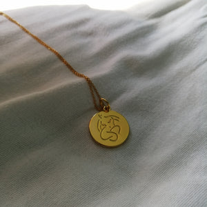'Emily' Coin pendant Necklace - By James Wilson
