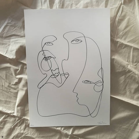 Untitled linear piece - original A2 line drawing - By James Wilson