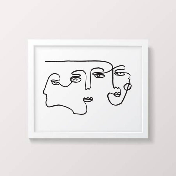 The Three Of Us ~ screen print - By James Wilson