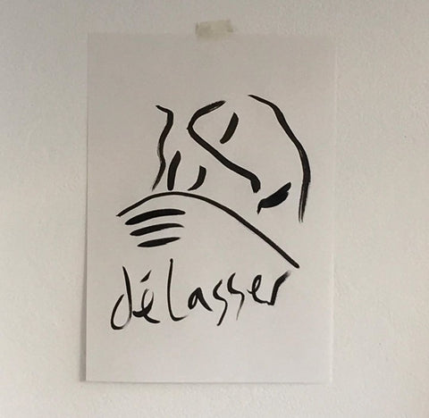 sold -Délasser - original artwork - By James Wilson