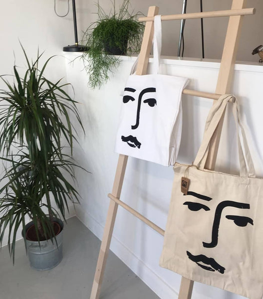 'Face' — Organic Day Bag - By James Wilson