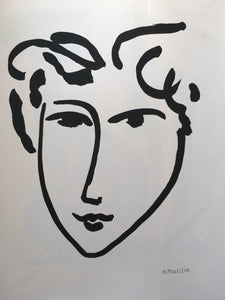 Henri Matisse - Ink Sketch 'Face Of A Man 1942' - By James Wilson