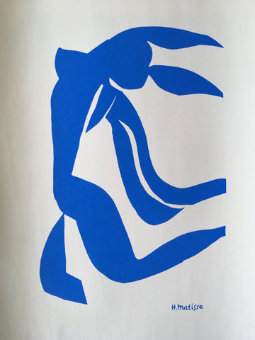 Henri Matisse ~ The Cut Outs ~ Blue Nude with Hair in the Wind 1952 - By James Wilson